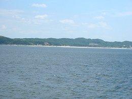 伊勢湾フェリー・知多半島が見えてきた