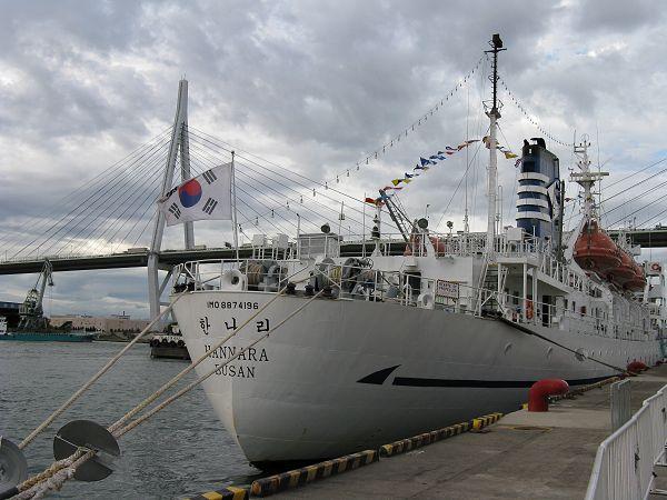 韓国の練習船