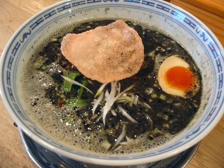 新在家ラーメンもんど 黒胡麻タンタン麺