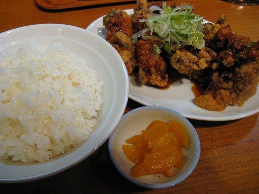 麺屋花星『塩らーめん』+『鶏の唐揚げニンニクソース』