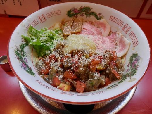 赤茄子白鶏冷麺