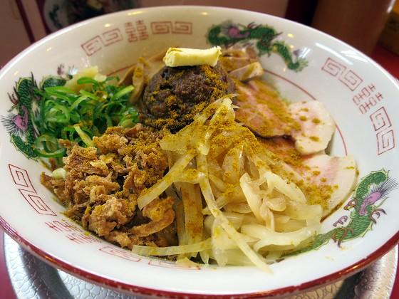 ラーメンたんろん『味噌カレー牛乳和え麺』