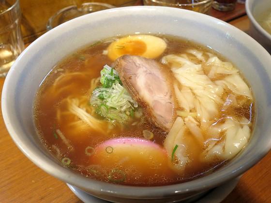 麺屋花星『わんたんめん(正油)』